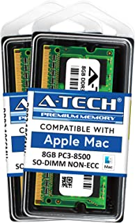 A-Tech 16GB Kit (2X 8GB) RAM for Apple Mac Mini (Mid 2010) - DDR3 1066MHz/1067MHz PC3-8500 204-pin SODIMM Memory Upgrade
