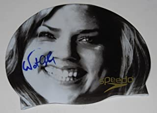 NATALIE COUGHLIN signed (TEAM USA SWIMMING) SPEEDO SWIM CAP W/COA *BEIJING 2008* - Autographed Hats