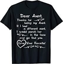 Dear Aunt Thanks For Being My Aunt Gift From Niece To Aunt