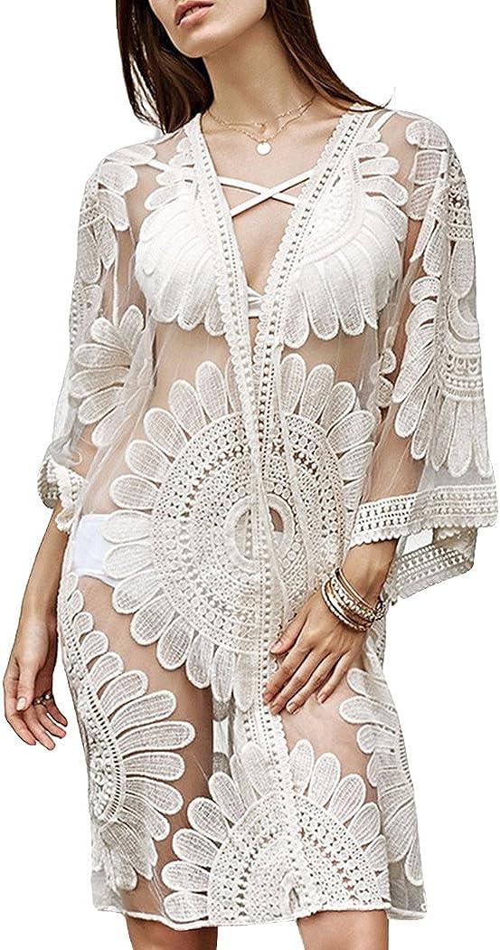CM-Kid Womens Cover UPS New Jacksonville Mall item Sexy Lace Crochet Bikini Swimsuit
