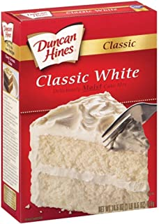 Duncan Hines Moist Deluxe Cake Mix Premium Classic White Cake 16.5 Oz- 4 Packs