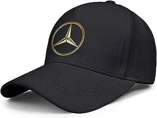Novelty Baseball Caps Adjustable Cricket Custom Mercedes-Ben-3D-effect-flag-logo- Vintage Cap Cute Unique Fashion Hats