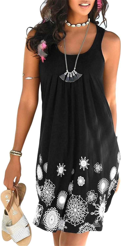 Onlypuff Black Dress Vest Girls Sundress Sleeveless Pleated Tank Casual Dresses Loose Fitting M