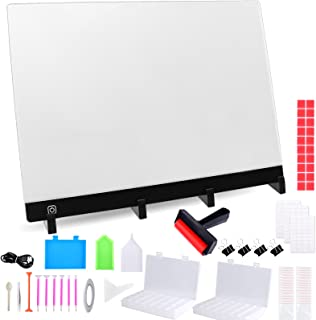 78 Pack A3 LED Light Pad Set for Diamond Painting, XPCARE Diamond Painting Tools with USB Powered Light Board Kit Multifunction Brightness with Portable Stand