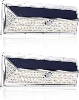 Tomshine 126 LED Bulbs Wall Light Solar Powered IP65 PIR Motion Sensor 270° Lighting Range