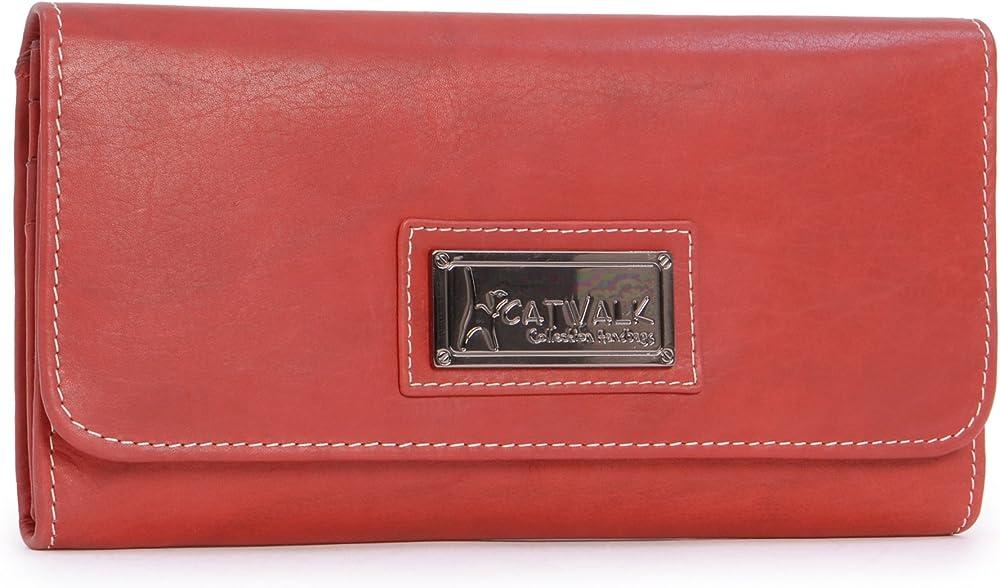 Catwalk collection handbags - portafoglio porta carte di credito per donna in pelle 5060274974570