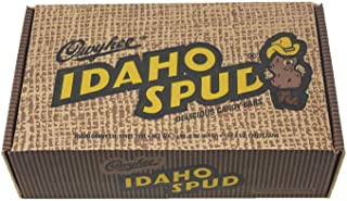 12 CT Mailer Box of Famous Idaho Spud Chocolate Candy Bars. Full Size Bars in a Specialty Candy Box. Soft Marshmallow Center Drenched with a Dark Chocolate Coating Sprinkled with Coconut.