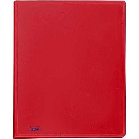 Favorit 100460286 - Portalistino, Formato Interno 22 x 30 cm, 50 Buste, Rosso