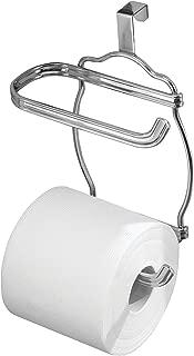 InterDesign York Lyra Over Tank Toilet Paper Holder – 2 Roll Storage for Bathroom, Chrome