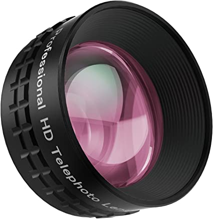 Aukey® Pro óptica lente Universal 2X Telefoto HD para Smartphones compatible con iPhone 8,iPhone 8+, Samsung Galaxy S8,Samsung Galaxy S8+ y otros smartphones