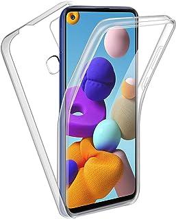 Reshias Funda para Samsung A21s, 360°Full Body Protección [Suave TPU Silicona Delantero] [PC Dura Atrás] Transparente Flip Protectora Carcasa para Samsung Galaxy A21s (6,5 Pulgadas)