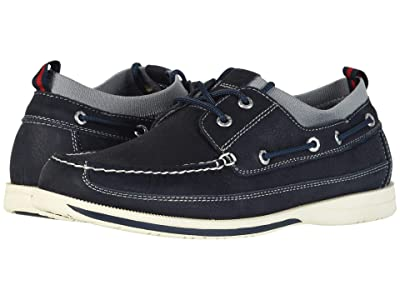 Dockers Homer Smart Series Leather Boat Shoe with Smart 360 Flex and NeverWet (Navy Tumbled Nubuck) Men