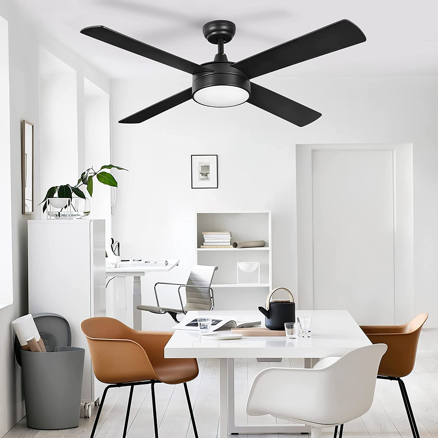 Buy Yitahome 52 Ceiling Fan With Light And Remote Modern Low Profile Reversible Fanlight With 3 Color Temperatures 3 Level Speeds Timing Outdoor Fans For Patio Living Room Bedroom Black Online In Germany B08nf4bqgf