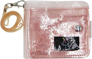 Clear Jelly Wallet for Women Small Transparent Slim Bifold Coin Pouch Card Holder Mini Short Purse