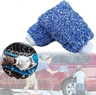 Alivier Autowaschhandschuhe 2er Pack Mikrofaser Waschhandschuhe Kratzfeste, ultraweiche Waschhandschuhe für die Auto  und Haushaltsreinigung