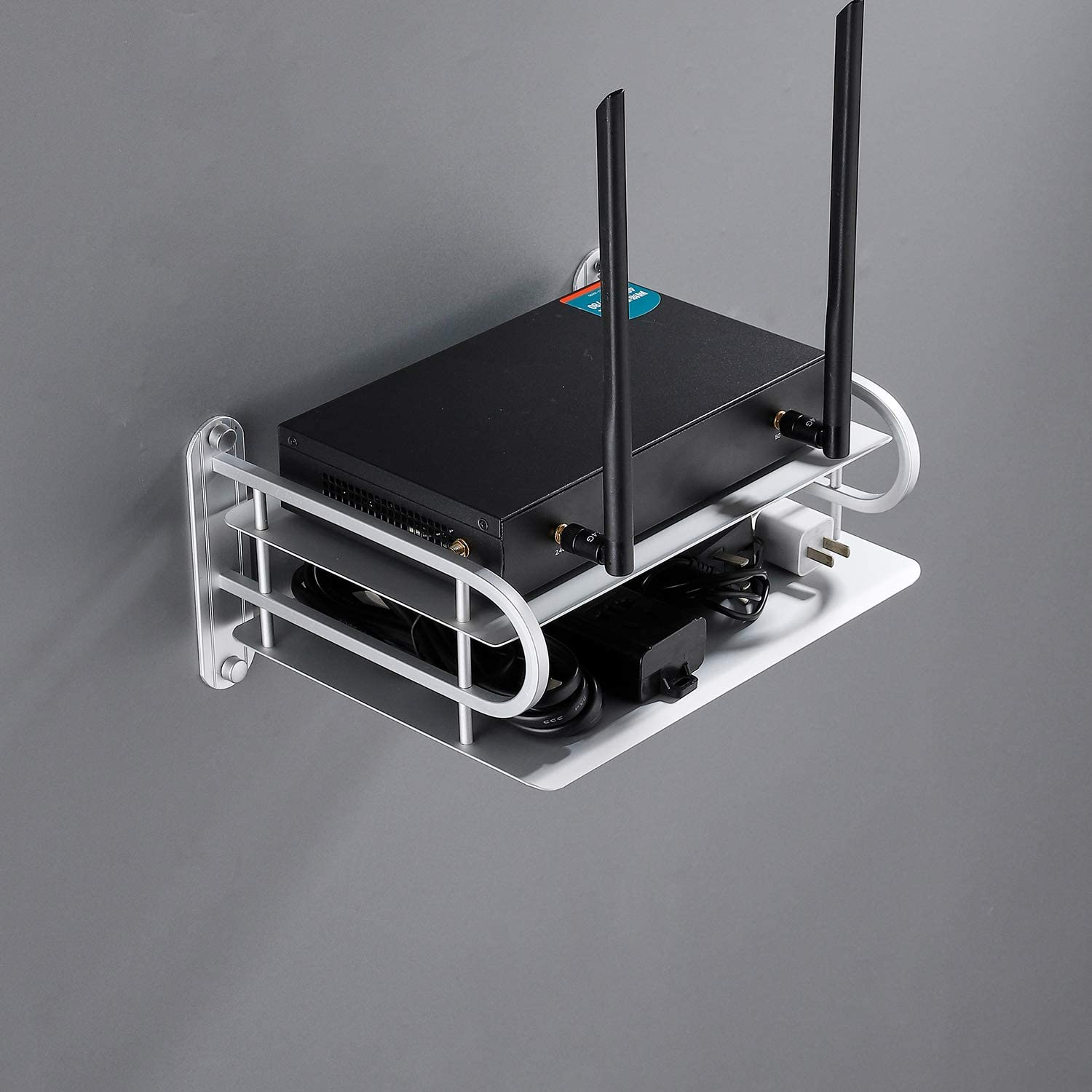Wall Mounted WiFi Router Ranking TOP7 Free shipping New Holder Home Organizer Shelf for Socket