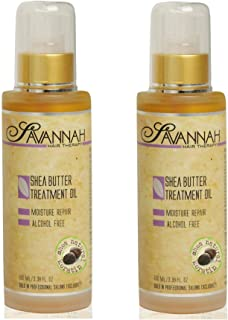 Savannah Hair Therapy Shea Butter Treatment Oil 3.38 oz (100ml) a natural source of keratin that coats the hair and impart...