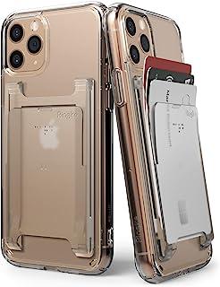 Ringke Slot Card Holder (2 Pack) Designed for Smartphones, Adhesive Stick On Wallet Case Minimalist Slim Hard Premium Cred...