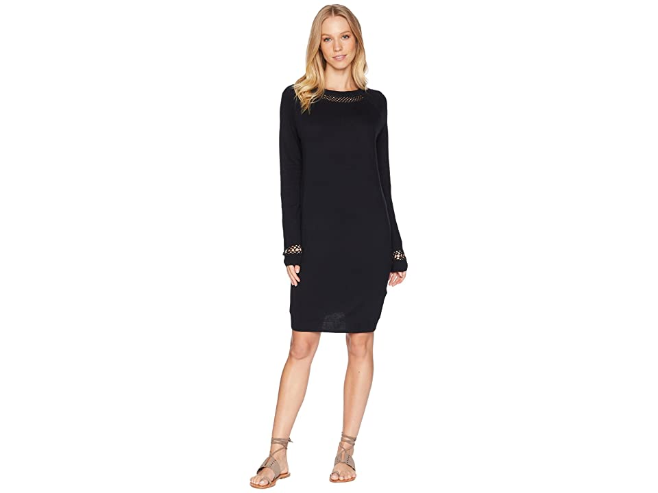 Roxy Expression Of Nature Knit Smocked Dress (True Black) Women