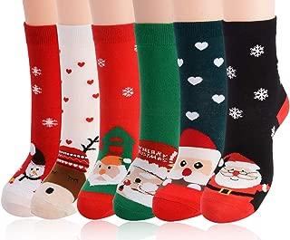 Christmas Cotton Socks,Aniwon 6 Pairs Funny Christmas...