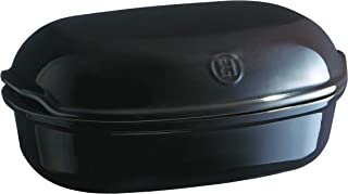 Emile Henry Charcoal Artisan Bread Baker, 13.6 x 8.9 x 3.4in