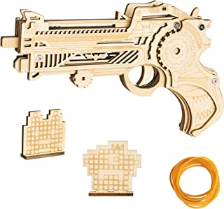 Decorlife 3D Puzzles, Rubber Band Gun, Toy Shotgun for Teens and Kids to Build, Wood Model Kit with Rubber Bullets and 2 T...