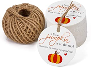 fall baby shower favor tags