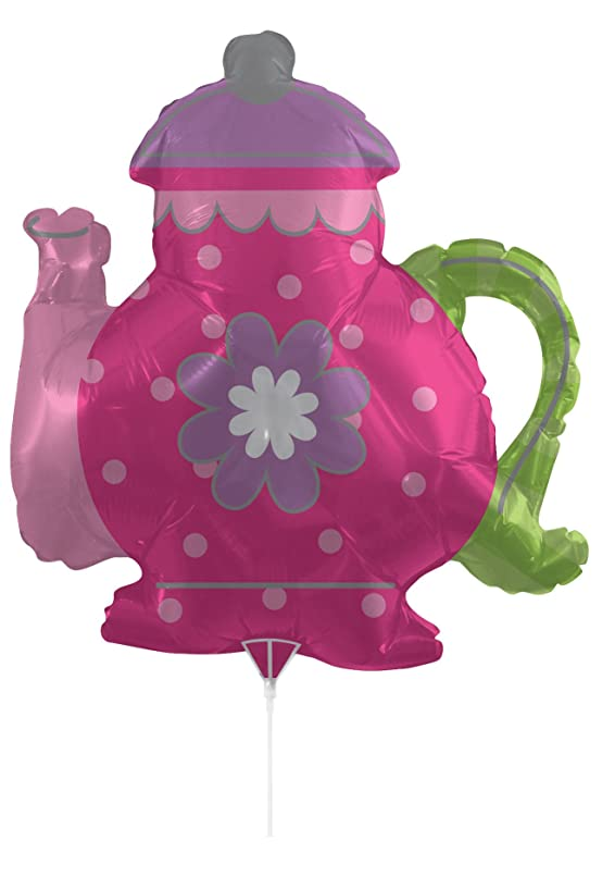 Creative Converting Air-Filled Teapot Balloon with Stick and Joiner, 30
