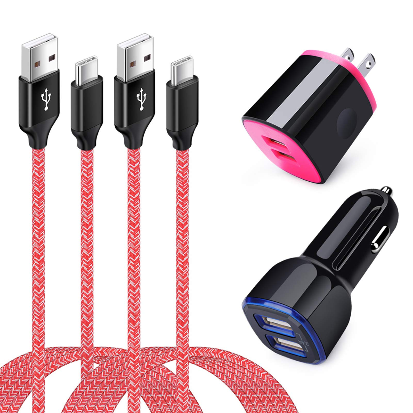 Professional Quick Charge USB Type-C for LG Optimus Zone 3 5Ft1.8M Data Charing Cable Plus Extra Strength for Fast /& Quick Charge Speeds! Black
