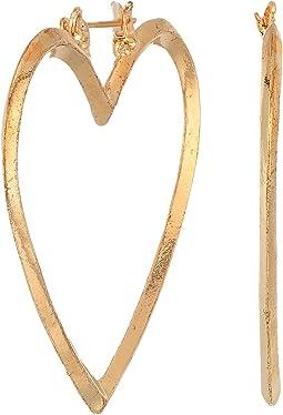 SHASHI - Heart Hoop Earrings