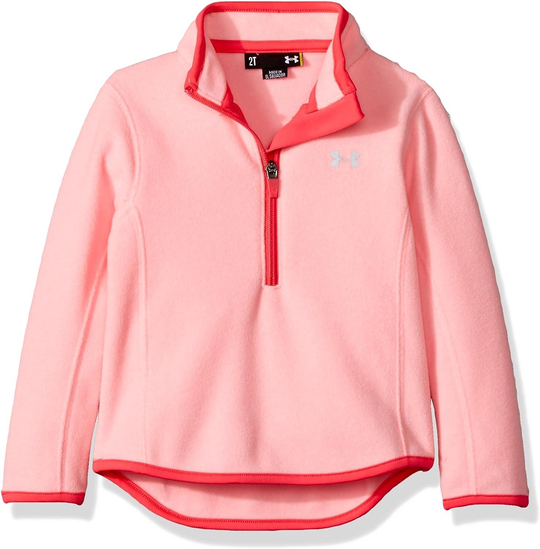 Under Armour Girls' Heathered 1/4 Zip Fleece Track Sweater
