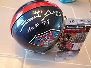 Forrest Gregg Autographed Signed Memorabilia Nfl 75Th Anniversary Mini Helmet JSA Coa Packers