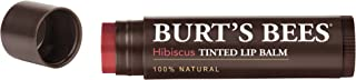Burt's Bees 100% Natural Tinted Lip Balm, Hibiscus with Shea Butter & Botanical Waxes – 1 Tube