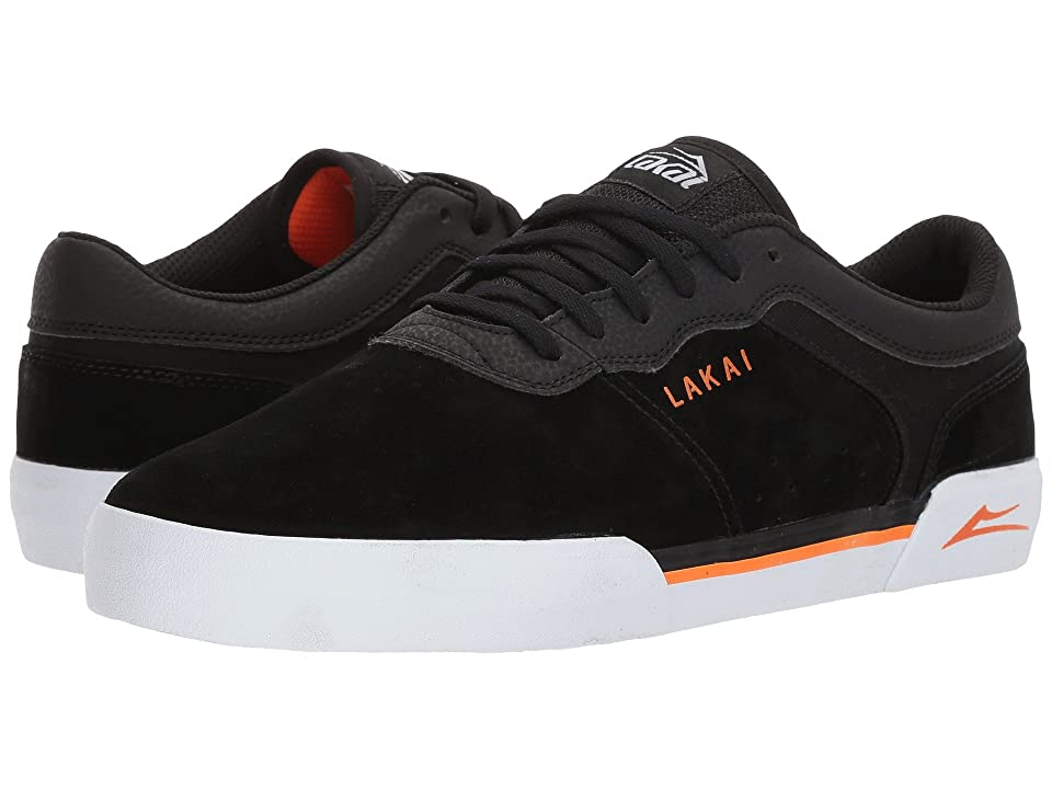 Lakai Staple (Black/Orange Suede) Men