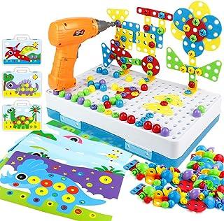 yoptote 224 PCS Juguetes Montessori Puzzles 3D Mosaicos Infantiles Manualidades Niños Dinosaurios Juguetes Educativos Bloq...