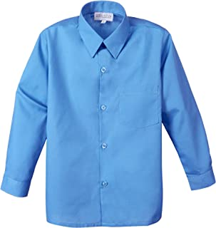 Spring Notion Big Boys` Long Sleeve Dress Shirt