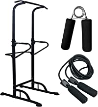 Blade Health - Power Tower Pull Up Bar & Dip Station, Jump Rope, & Hand Grip (3 Pack) Home Gym Equipment Hight Adjustable
