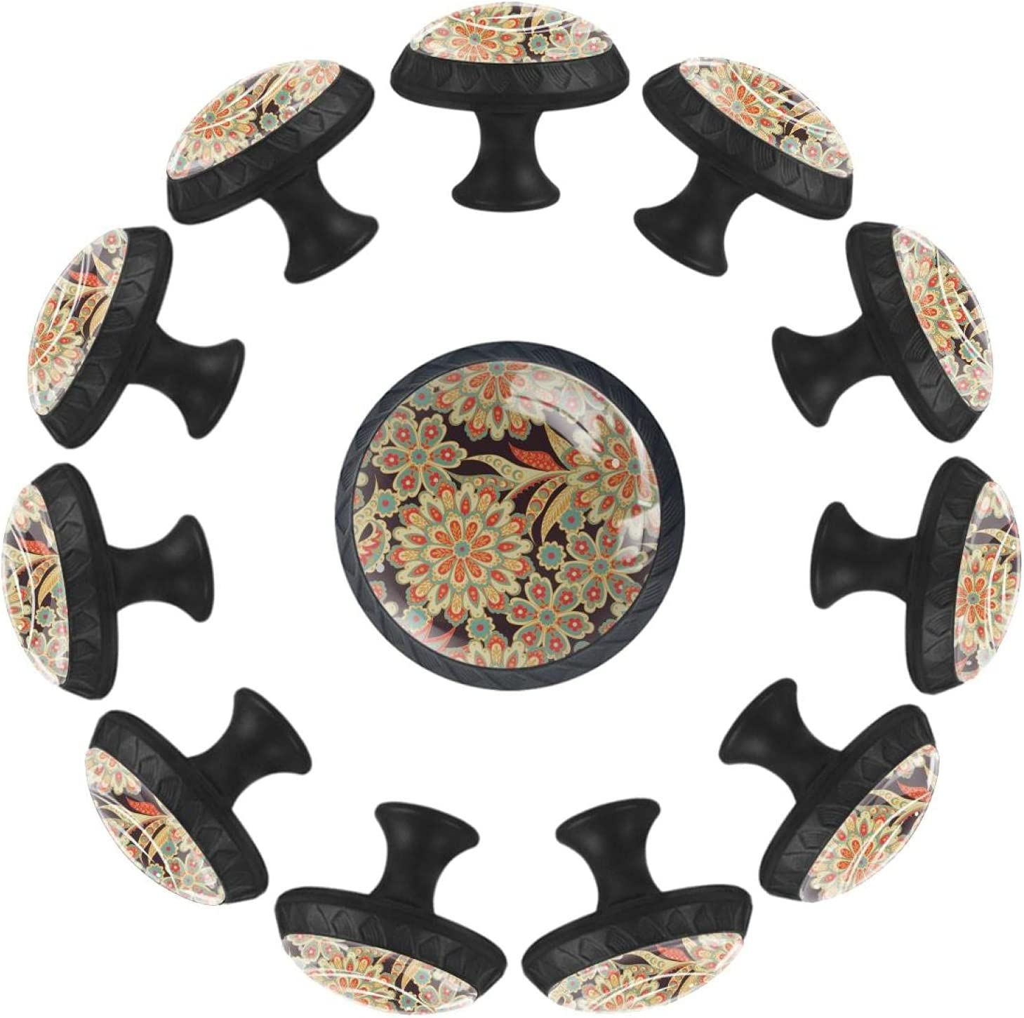 Floral Seamless Background unisex 12PCS Round Knob Handle Drawer Pull C Max 60% OFF