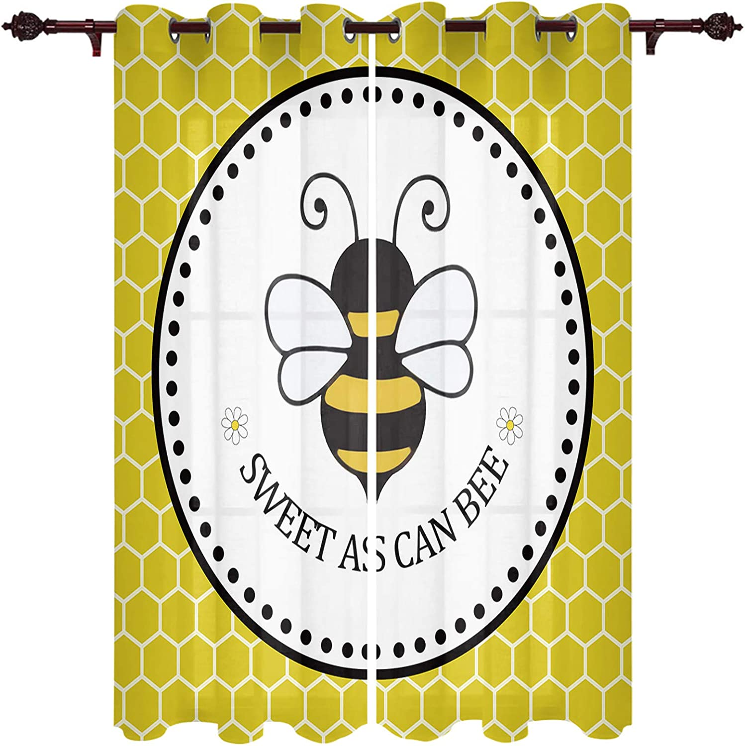YEHO Art Gallery 2 Panels Yellow Curtain 2021 spring and summer new Honeycom Cash special price Window