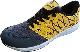 Livia Sports Boy's Walking Lightweight Running Shoes Yellow & Grey