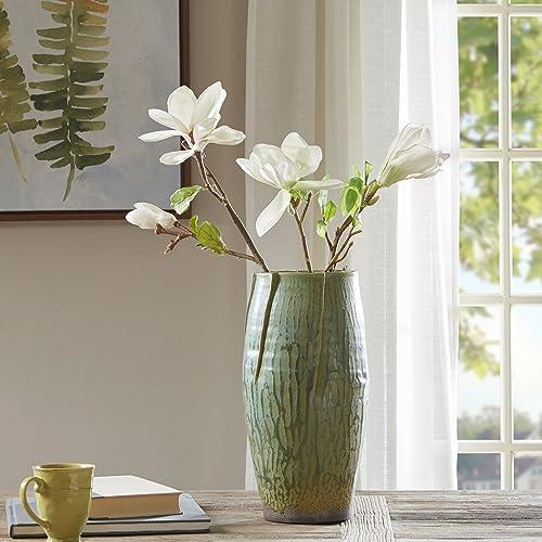 Hand Made Ceramic Tuscan Vase Green Vases Home Decor Large