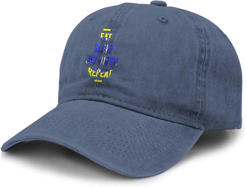 SEAEAGLE Eat Sleep Jiu Jitsu Adult Curved Brim Baseball Hat Sports Cowboy Cap