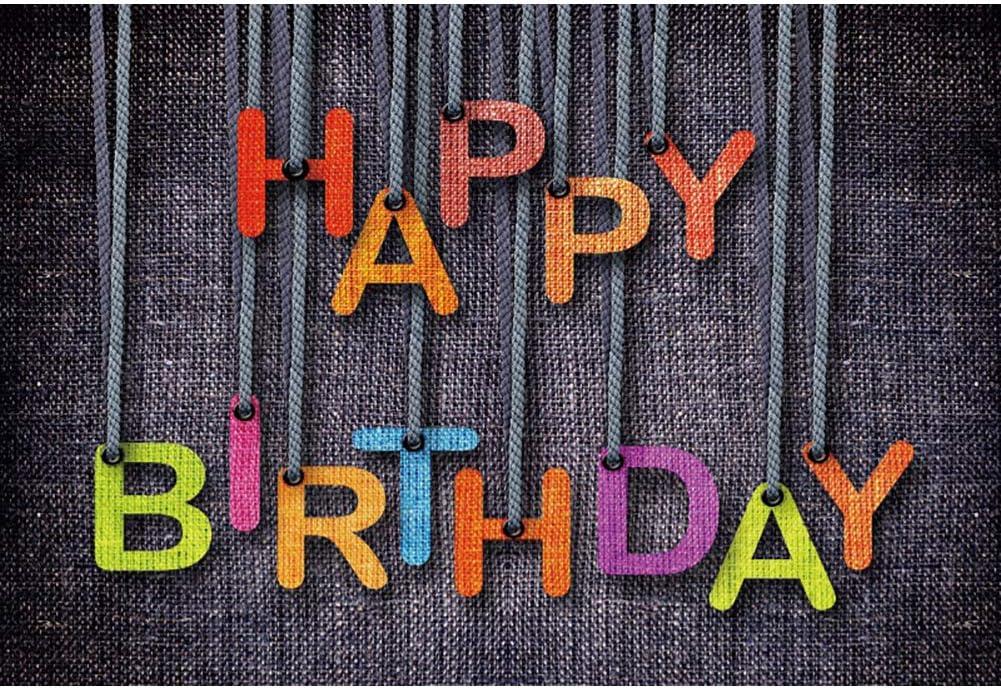DaShan 6.5x5ft Polyester Happy Birthday Backdrop Girls Baby Cake Smash Birthday Party Banner Photography Background Kids Baby Boy One Year 1st First Birthday Newborn Baby Portrait Photo Studio Props
