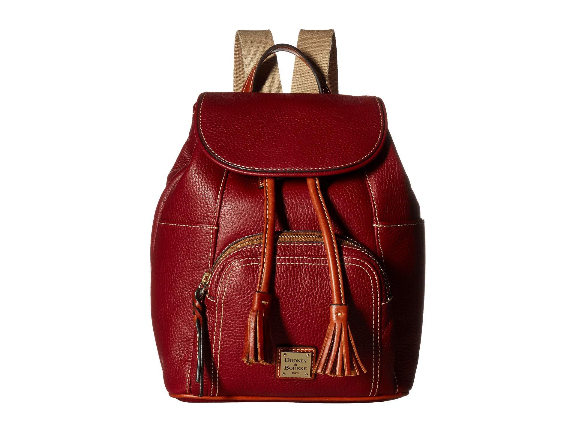 Trim tan Bourke Backpack Murphy Pebble Wine Dooney Medium amp; zw5qg80