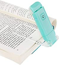 DEWENWILS USB Rechargeable Book Light for Reading in Bed, Warm White, Brightness Adjustable, LED Clip on Book Reading Lights, Perfect for Bookworms, Kids, Blue