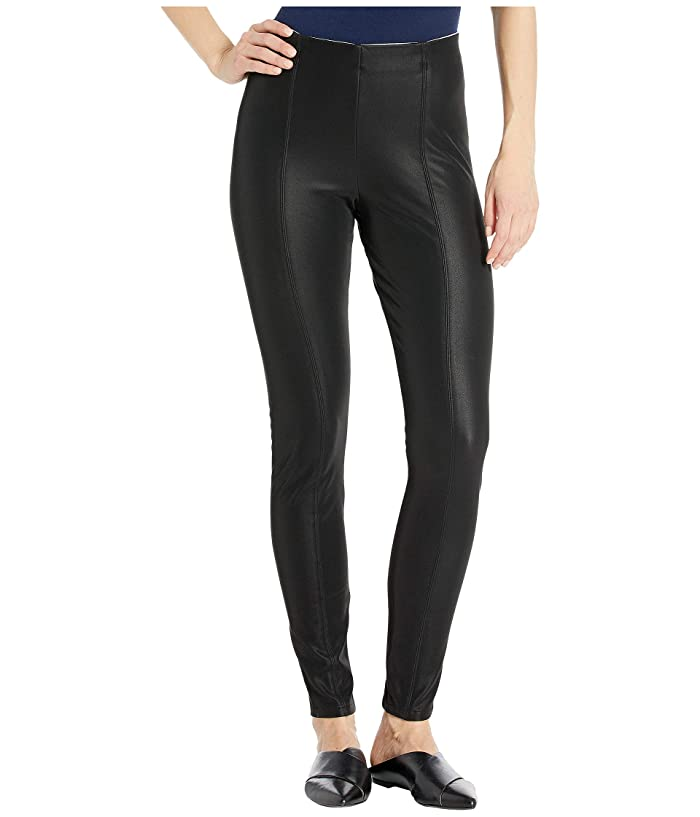 KENDALL + KYLIE  Pebbled Faux Leather Leggings (Black) Womens Casual Pants