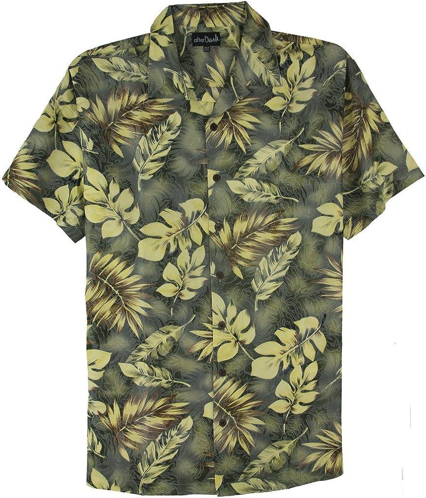 Falcon Bay Big & Tall Men's Quality Hawaiian Tropical Shirt Green