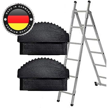 Schwarz Gummi Leiter F/ü/ße Fydun 2 Teile//para Gummi Leiterf/ü/ße Rutschfeste Ersatz Trittleiter F/ü/ße Fu/ßmatte Kissen Sohle