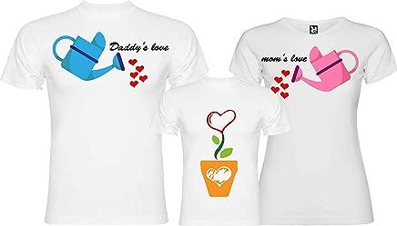 000745d5c1e38f Centro Stampa Brianza Maglietta papà Mamma e Figlio Figlia - Daddy's Love  momm's Love