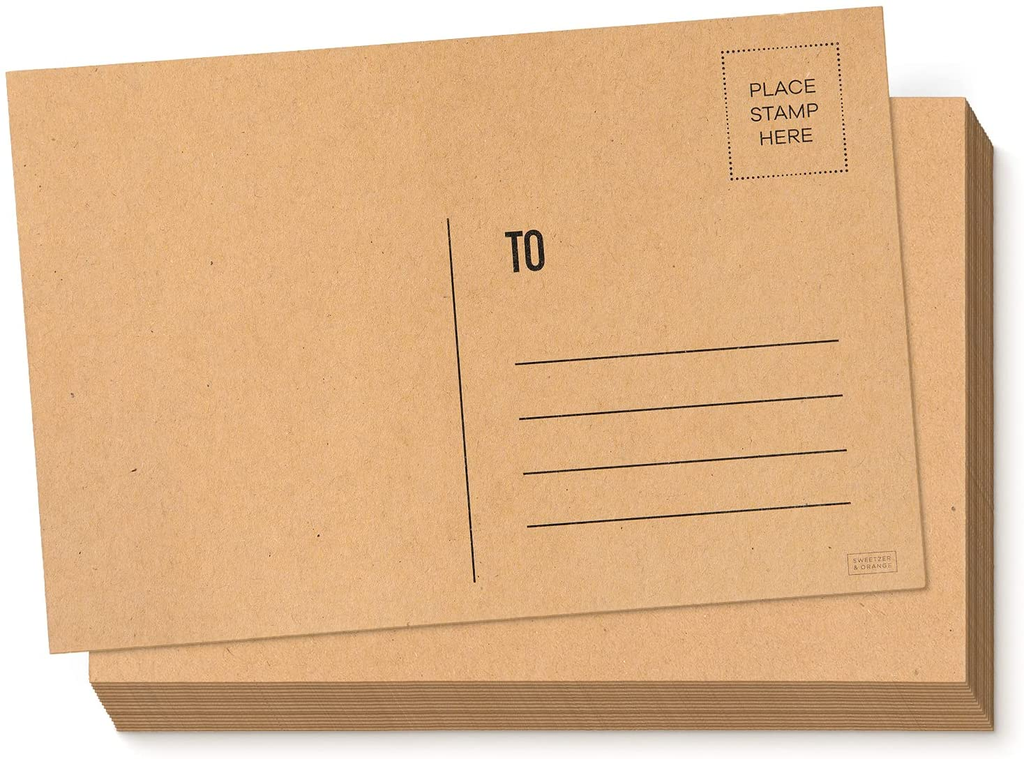 Sweetzer Courier shipping free Orange Blank Postcards for Mailing. 4x6 60 Blan Kraft Albuquerque Mall